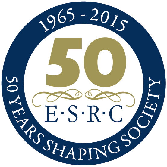 50 years of ESRC logo